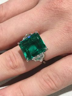 I Love Jewelry Natural Carat GIA Cert Colombian Emerald Platinum Ring - Emerald Jewelry, Turquoise Jewelry, Diamond Jewelry, Diamond Rings, Silver Jewelry, Emerald Rings, Gold Jewellery, Diamond Pendant, Silver Ring