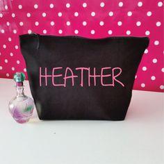 Custom Makeup Bag with Name. Custom Makeup Pouch. Custom Cosmetic Bag. Custom…