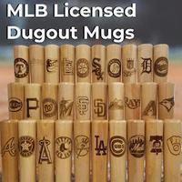 Cubs Dugout Mug® - Baseball Bat Mug - Thompson Mug Co. - Dugout Mugs Baseball Pennants, Baseball Dugout, Red Sox Baseball, Chicago Cubs Baseball, Baseball Gifts, White Sox Logo, Cleveland Indians Baseball, Coach Gifts, Personalized Mugs