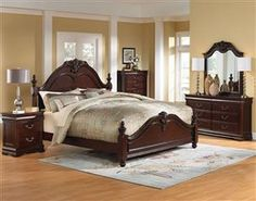 Westchester Traditional Cherry Wood Master Bedroom Set More