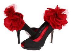 stunning red & black pumps