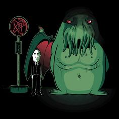 H. P. Lovecraft and Cthulhu by Ratigan