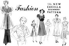 **FREE ViNTaGE DiGiTaL STaMPS**: 1940's fashion collage