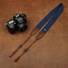 Anti-Slip Blue Cotton/Brown Leather Head Universal Camera Strap for SLR DSLR 1207A-2 - http://www.bestdslrdigitalcamera.com/camera-photo-video/accessories/binocular-camera-camcorder-straps/antislip-blue-cottonbrown-leather-head-universal-camera-strap-for-slr-dslr-1207a2-com/