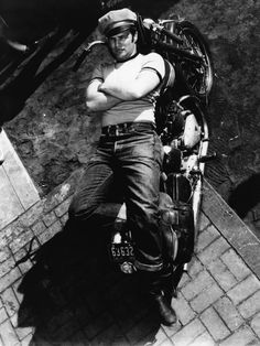 Marlon Brando as Johnny in the iconic biker film The Wild One.