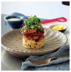 Chilli Garlic Masala Prawns with Couscous Salad- By Chef David Bitton