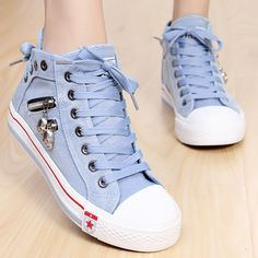 summer new breathable canvas casual women Korean version of the British fashion sneakers shoes H139 -in Women's Fashion Sneakers from Shoes ...
