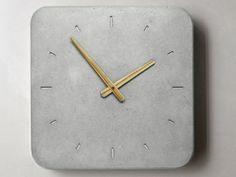 Kitchen Wall Clocks | Wall Clock Clock of concrete Kitchen Clock by WertWerke on Etsy, € ...