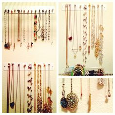 DIY Wall Mounted Jewelry Organizer {I made this!}