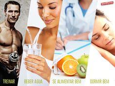 Essencial à vida.  #treinar #beber água #alimentar #dormir