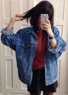 fashion trends #1980SFashionTrends Indie Outfits, Grunge Outfits, Casual Outfits, Cute Outfits, Denim Outfits, Work Outfits, Spring Outfits, Winter Outfits, Look Fashion