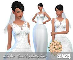 Wedding dress at Nolan Sims via Sims 4 Updates