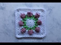Crochet Flower Garden Hexagon - YouTube