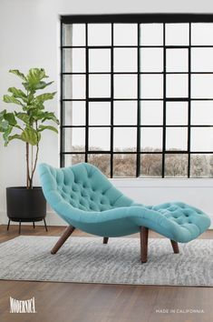 The Modernica Brasilia Chaise's unique design brings a natural, curving form to any interior space. Features hand tufting throughout and rests on solid walnut legs. Available in 45 fabrics. Made in California. Home Decor Furniture, Cool Furniture, Diy Home Decor, Furniture Design, Futuristic Furniture, Plywood Furniture, Chair Design, Modern Furniture, My New Room