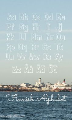 Finnish Alphabet // Suomi // 4 Things That Are Easy About Learning Finnish Finnish Grammar, Finnish Words, Finnish Language, German Language Learning, Language Study, Japanese Language, Lappland, Spanish Activities, Teaching Spanish