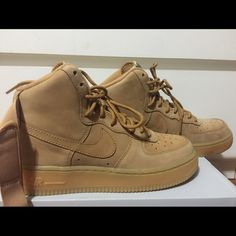85cbf9eda4b1 Wheat AF1 flax Nike high top AF1 wheats size 5y Nike Shoes Sneakers Nike  High Tops