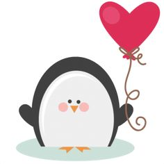Valentine Penguin SVG file for scrapbooking cardmaking valentines svg files free svgs cute svg cuts