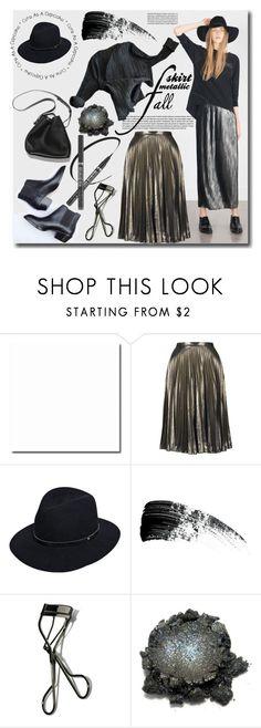 """metallic skirt"" by ira-melnik ❤ liked on Polyvore featuring Topshop, 3.1 Phillip Lim, rag & bone, Hourglass Cosmetics and Bobbi Brown Cosmetics"