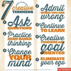 7 Qualities of Creative Thinkers - inspired by Brian Tracy (via SocialOgilvy)