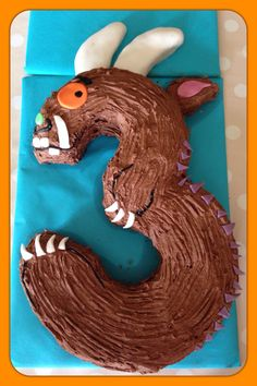 Great one for a Halloween birthday. 3rd Birthday Cakes, 3rd Birthday Parties, Birthday Fun, Birthday Ideas, Gruffalo Party, Gruffalo Activities, Number 3 Cakes, Bookworm Party, Kids Party Treats