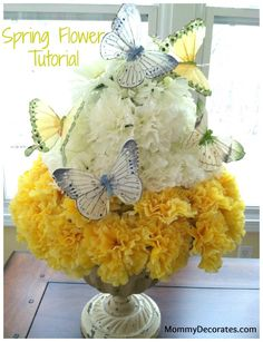 Spring Flower Topiary Close up 785x1024How To Make A Spring Flower Topiary   A Quick And Easy Tutorial
