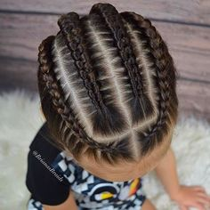 Some Nice Kids Hairstyle That You Can Try on Your Kids (Trends on Braids for kids is one of the most simple yet effective hairstyles you can administer for African American children. Help seal in the moisture the easy way. Boy Braids Hairstyles, Baby Girl Hairstyles, Black Hairstyles, Teenage Hairstyles, Braided Hairstyles For Kids, Children Hairstyles, Toddler Hairstyles, Girl Haircuts, Trendy Hairstyles