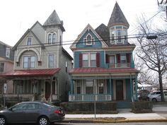 """Cape May is known for is it's collection of """"painted ladies""""; old Victorian era homes that now are for the most part Bed and Breakfast joints. Victorian Bed, Victorian Homes, Le Village, Painted Ladies, Cape May, Woman Painting, Bed And Breakfast, Beautiful Homes, Building A House"""
