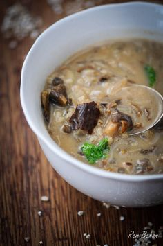 Recipe: Polish Wild Mushroom Soup The recipe suggests using boletas; some good examples that Bill Russell identifies include the Birch bolete and the Spotted bolete. Healthy Gourmet, Gourmet Recipes, Soup Recipes, Cooking Recipes, Cooking Ideas, Wild Mushroom Soup, Wild Mushrooms, Stuffed Mushrooms, Mushroom Hunting