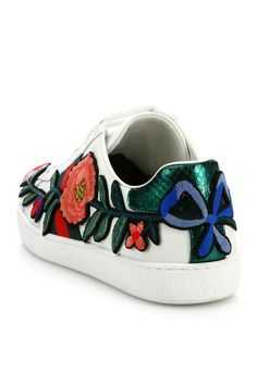 Step into #Gucci's world of whimsy w/ these luxe sneakers #10022shoe