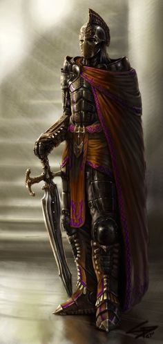 Esulkar Royal Guard by ~Herckeim on deviantART. Armoured guardsman in red cloak