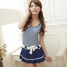 Buy 'Angel Romance – Striped Bow-Front Swimsuit' with Free International Shipping at YesStyle.com. Browse and shop for thousands of Asian fashion items from Taiwan and more!