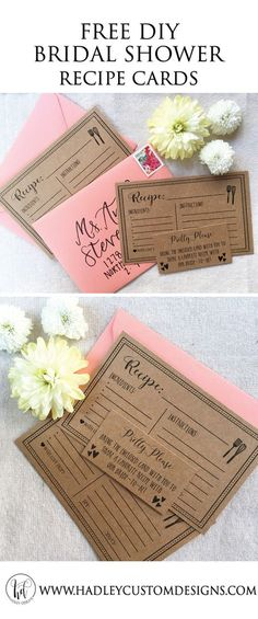 cd5e1f1acfd FREE Printable Recipe Cards. Ideas For Bridal ShowerBridal ...