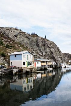 Quidi Vidi, Newfoundland. We loved the little brewery here and enjoyed our beer next to the icebergs in the bay. May 2012