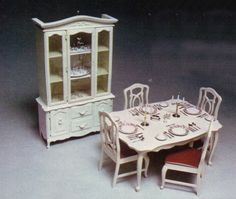 Sindy doll dining room set...had one of these when I was little :)  such happy, carefree days!