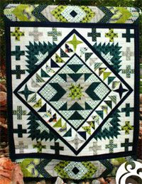 "Jackson Hole Quilt Pattern by Emily Herrick of Crazy Old Ladies at KayeWood.com. Finished size approx 60"" x 76"". Medallion quilt pattern. The quilt is put together in sections and can easily be broken down into a block-of-the-month/week. http://www.kayewood.com/item/Jackson_Hole_Quilt_Pattern/3882 $10.00"