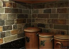 Granite Countertop And Tile Backsplash Ideas Kitchen Cabinetry Pinterest