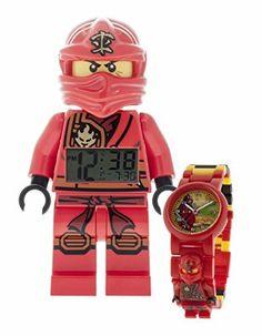 LEGO Ninjago Jungle Kai réveil et montre bundle: Amazon.fr: Montres