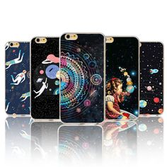 Airship Astronaut Stars Phone Case Cover For iPhone 6 6S 5 5S SE 5C 6Plus 6sPlus 4 4S Silicone Moon Night Case High tech cosmic #>=#>=#>=#>=#> Click on the pin to check out discount price, color, size, shipping, etc. Save and like it!