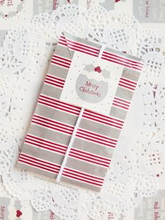 Gray-red-white packages
