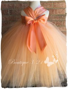 Melocotón tutu vestido vestido de tutú de melocotón por Boutique321