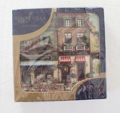 Pimpernel Coasters Set of 6 Parisian Scenes Made in England P026 Paris France #Pimpernel