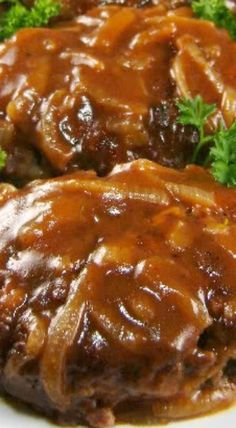 Salisbury Steak with Caramelized Onion Gravy