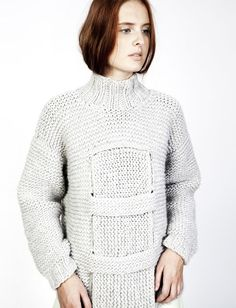 Pull Winther Tricot Crochet Tricots Mode By Gris De Grosses Tine Mailles Knit q6X40E7nwx