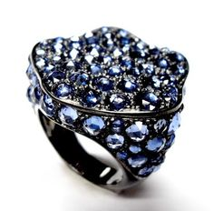 ETHO Rose Cut Blue Sapphire Ring
