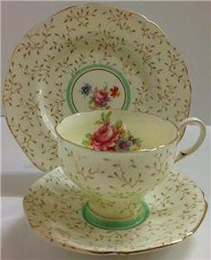 Paragon Art Deco Vintage English China Tea Set Trio | eBay