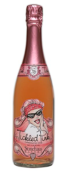 Tickled Pink Sparkling wine - Stonehaus Winery