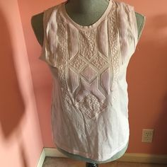 J. Crew Lilac Lace Tank Never worn, light purple, J. Crew tank with lace design J. Crew Tops Tank Tops