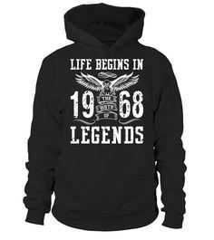 Life Begins In 1968 Birth Legends  #image #grandma #nana #gigi #mother #photo #shirt #gift #idea