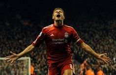 ♠ March 13 2012 - Liverpool captain Steven Gerrard scores a hat trick as the Reds beat bitter rivals Everton 3-0 at Anfield. #LFC #History #Legends