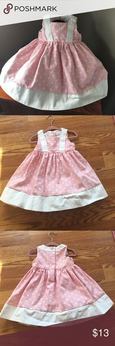 🌸Beautiful Pink & White Polkadot Dress EUC- worn once. Pink & White polkadot boutique dress for 12 month old. Thick, quality material with Tulle underlay. Poly/cotton. Smoke free home. Dresses